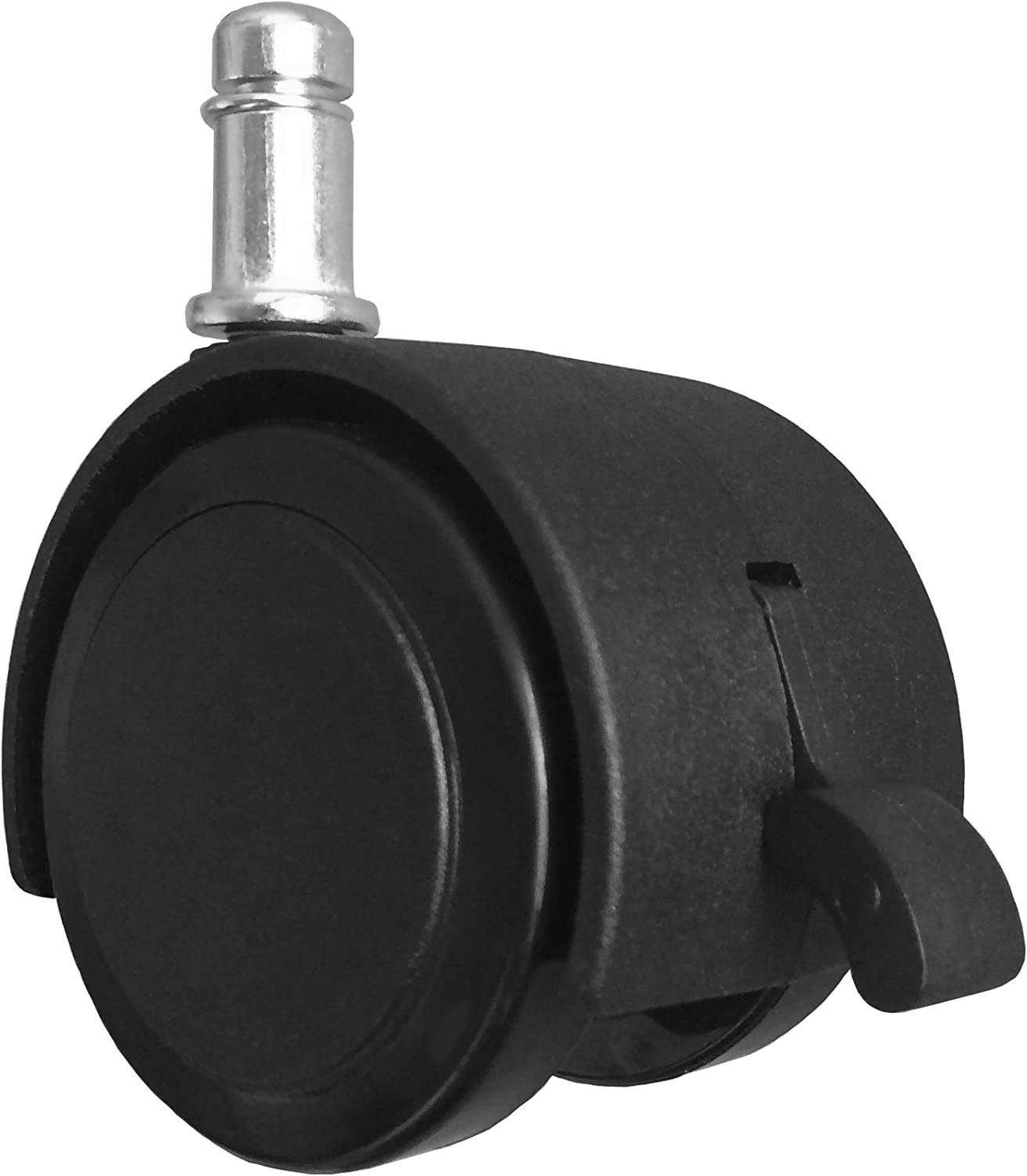 """2"""" Replacement Hard Floor Office Chair or Stool Caster Wheels - with Brake (Set of 5) - S5420-5"""