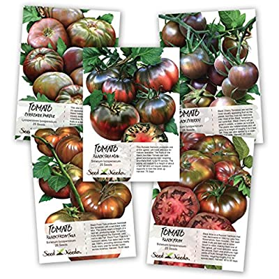 Black Tomato Seed Collection (5 Black Tomato Seed Packets) Non-GMO Seeds by Seed Needs