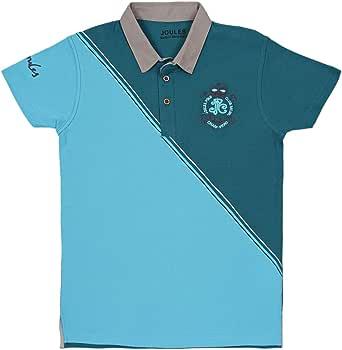 Joules Multi Color Cotton Shirt Neck Polo For Boys