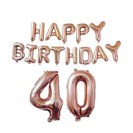 Kuncg Globos Cumpleaños Numeros 18/21/30/40/50/60 Globo ...