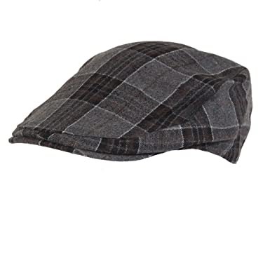 a0880dd8bcf Image Unavailable. Image not available for. Colour  59cm Mens Dark Grey  Square Checkered Flatcap