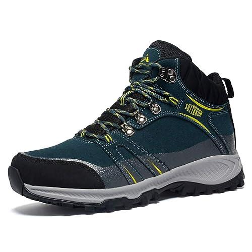 Zapatillas de montaña para Hombre Zapatillas de montaña Transpirables Antideslizantes para Hombres al Aire Libre Zapatillas de Trekking para Pareja: ...