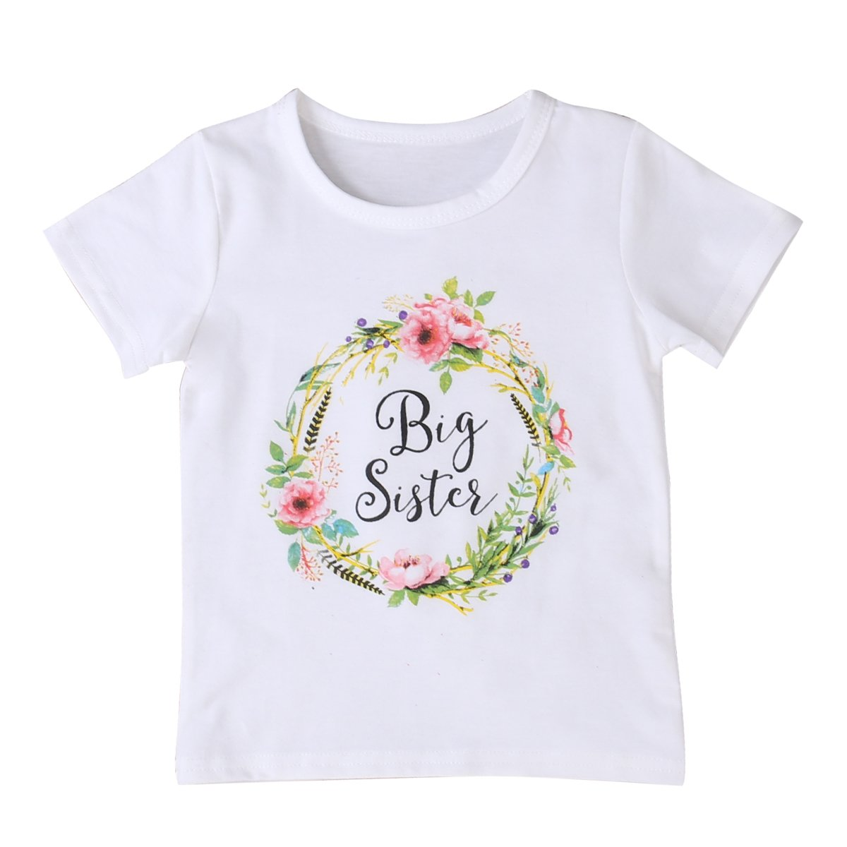MA& BABY Newborn Baby Girls Romper Tops White Shirt Sisters Outfits Clothes Set Moore