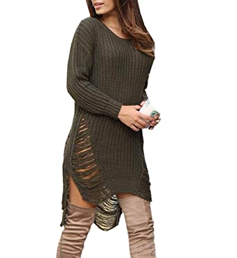 016b53bace Tuesdays2 Autumn Winter Sexy Women Long Sleeve Knit BodyCon Slim Party  Sweater Mini Dress (S
