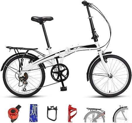 XHLLX Las Bicicletas De Montaña, Bicicleta Plegable De 7 Velocidades De Doble Freno De Disco Completa Suspensión De Bicicleta, 20 Pulgadas De Bicis De Velocidad Variable para Hombres Y Mujeres,B: Amazon.es: Hogar