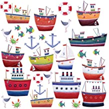RoomMates RMK1134SCS Ship Shape Peel and Stick Wall Decals