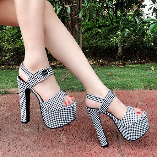 Sandals cm alto 303 toed Super tacon 15 81 XiaoGao de verano 8wIpq5WO
