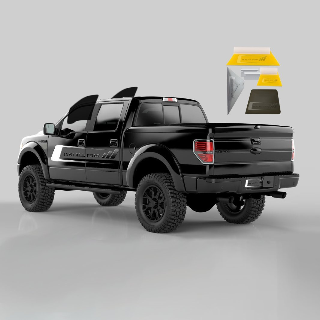 Tint Kits (Computer Cut) For All Four Door Trucks (Front Windows) Tint Your Own Car 731236241447