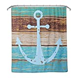 Anchor Shower Curtain Uarter Anchor Shower Curtain Waterproof Bath Curtain Mildew Resistant Shower Curtain with 12 Hooks, Machine Washable