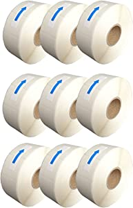 Blank White 1 x 2 Inch Dissolvable Labels for Food Rotation Prep roll of 500 (9 Rolls)