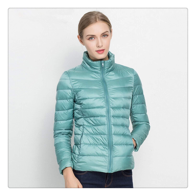 Hngchangji New Women Coat Autumn Winter 90% White Duck Down Jacket