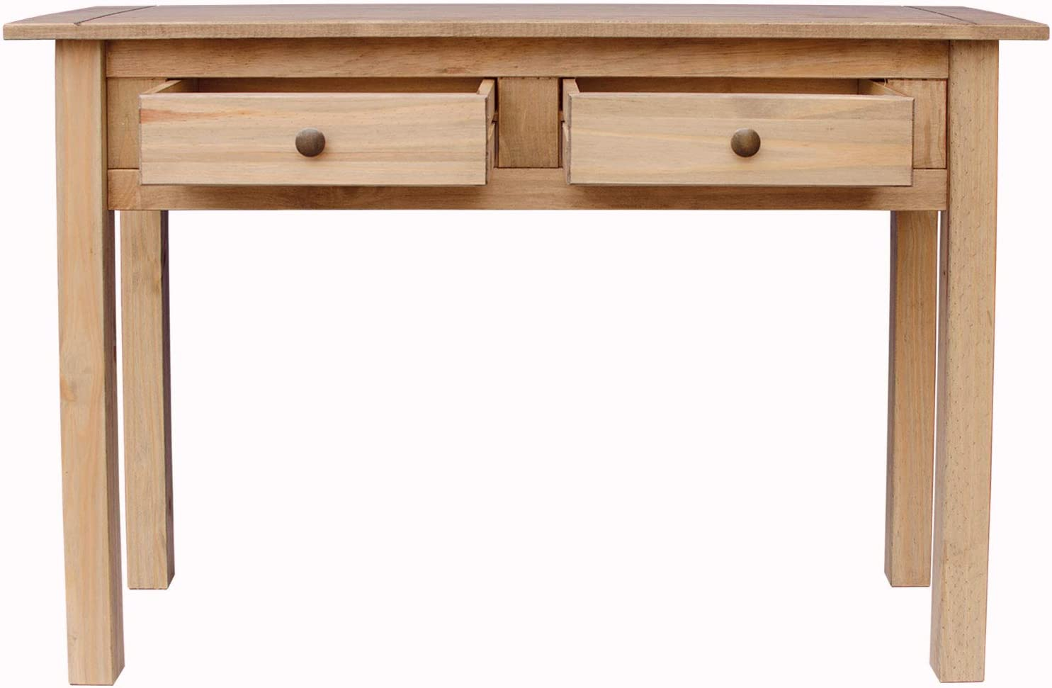 Vida Designs Panama 2 Drawer Console Table in Natural Wax