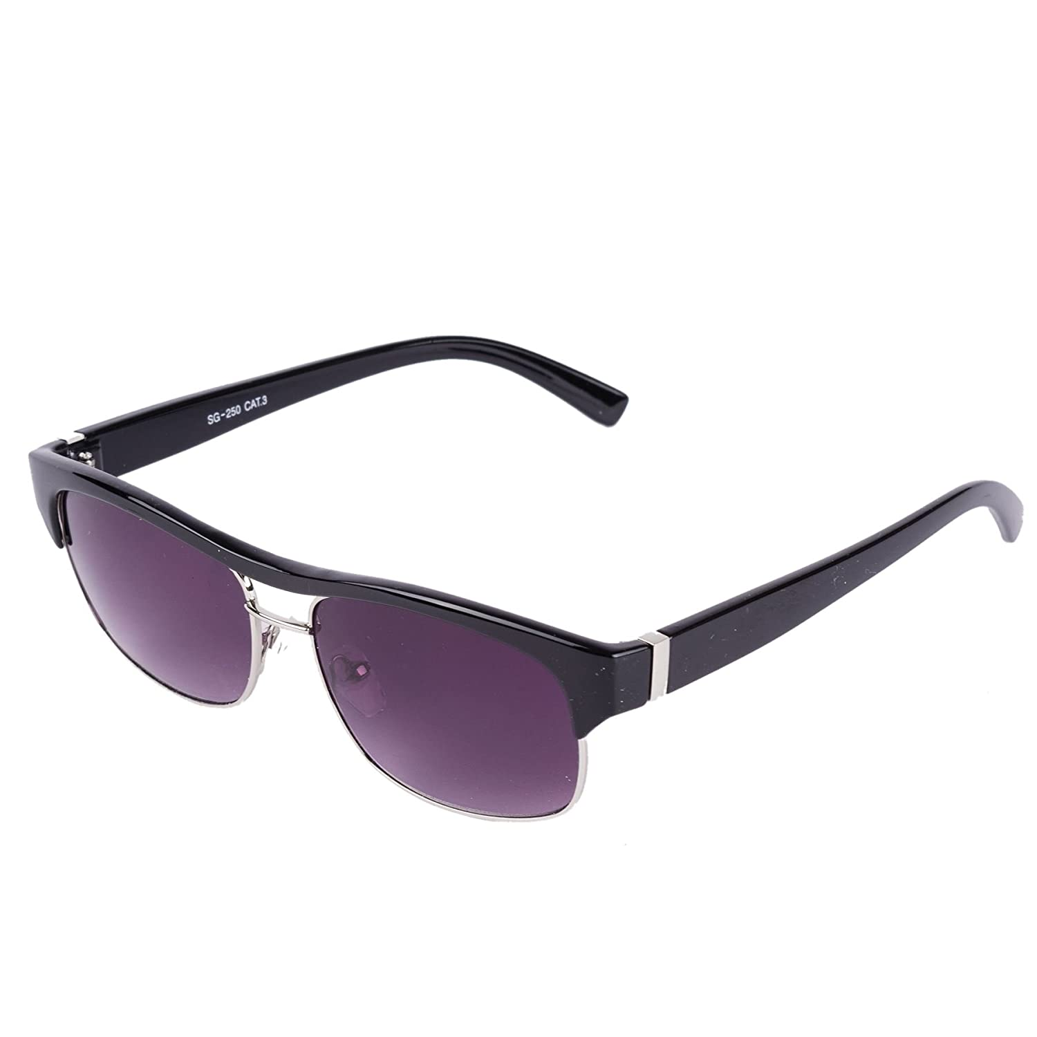 Browline Sunglasses with Top Bar (Black) at Amazon Womens ...