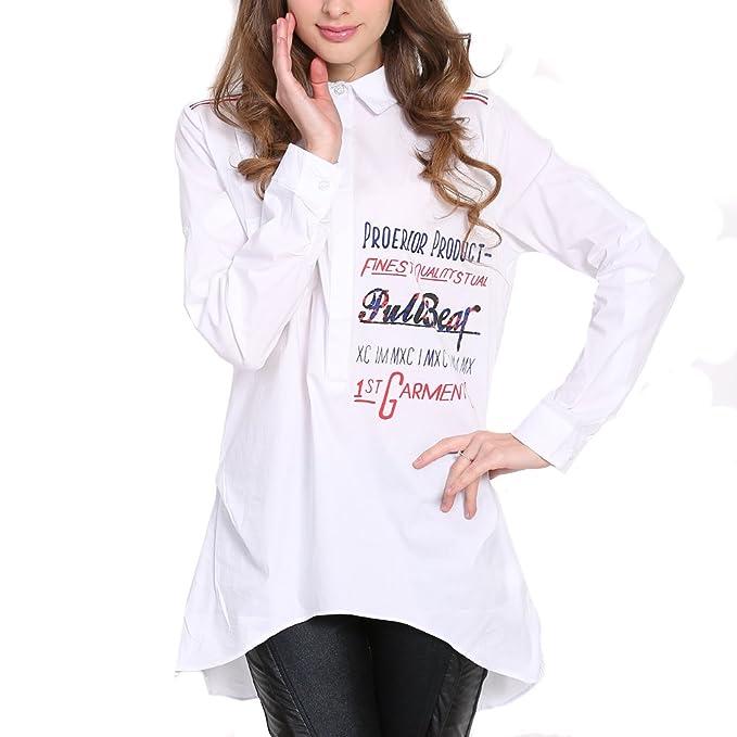 LOCOMO mujeres blanco Inglés palabra rojo zapatos dibujo Túnica Top Camisa Blusa ffk054l