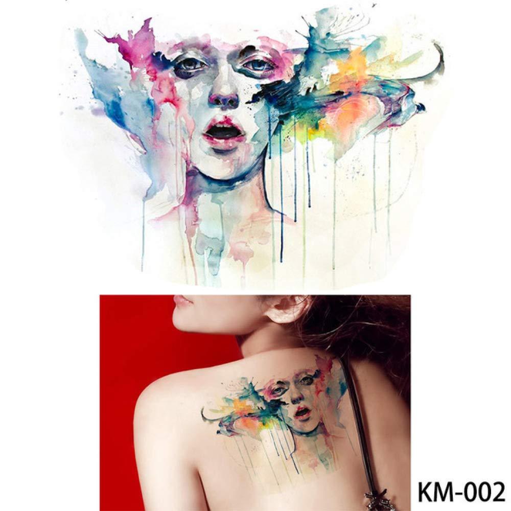 5 Piezas de Pintura de Acuarela Tatuaje Lindo Tatuaje Temporal del ...