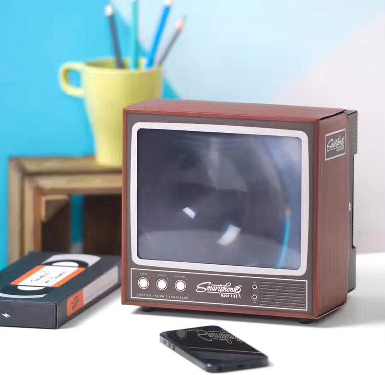 Vintage TV Teléfono móvil Smartphone Pantalla Lupa Amplificador de ...
