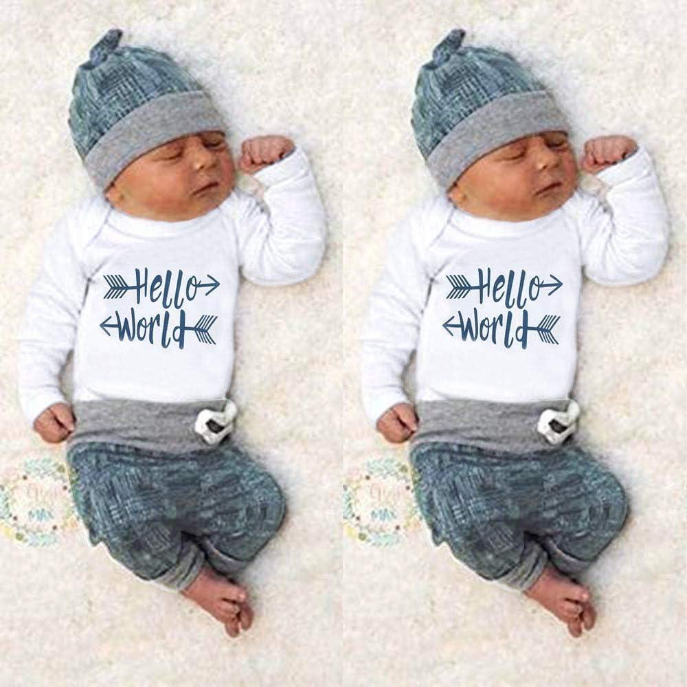 Sameno Baby Christmas Layette Set,Toddler Kids Baby Boy Winter Christmas Deer T Shirt Tops Pants Outfit Clothes 2PCS Set
