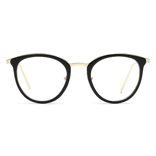 Amazon.com: Women Round Eyewear Fashion Frame Eyeglasses Optical ...