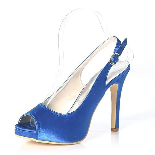 Boda De Del Elobaby Tamaño Satén Mujeres Las Recortes Zapatos OgxwqB7xE
