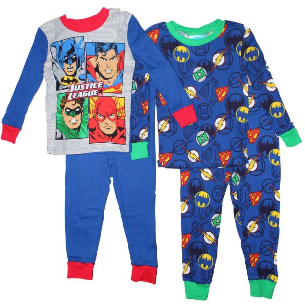 DC Comics Justice League Boys Cotton Pajamas 2-Pack 4-10 /…