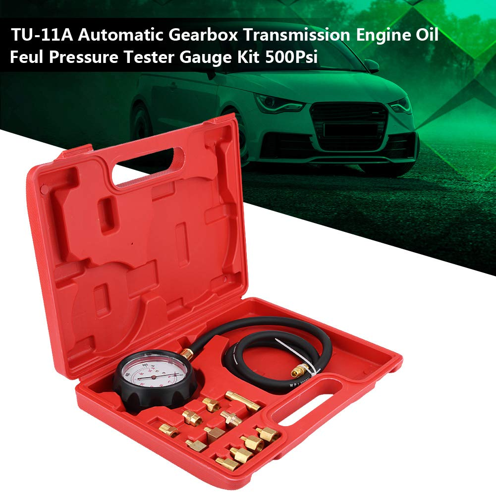 KIMISS TU-11A Automatikgetriebe Getriebe Motor/öl Kraftstoffdruck Tester Manometer Kit 500 Psi