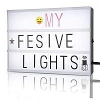 caja de luz con letra