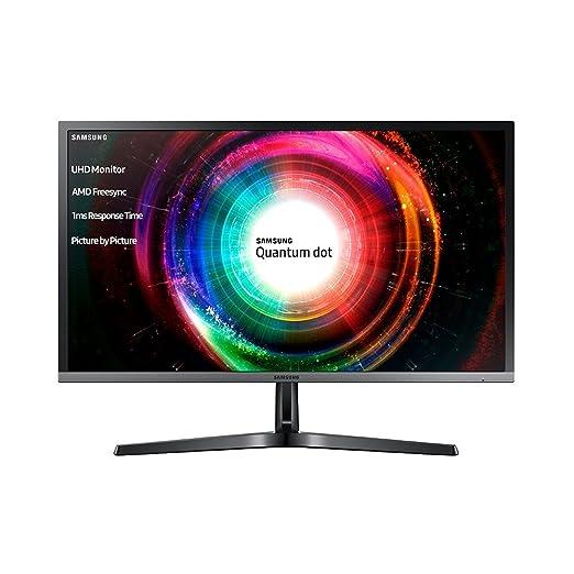 Samsung LU28H750UQUXEN 28-Inch 4K Ultra HD 3840 x 2160 Quantum Dot 1ms LED  Monitor - 2xHDMI, Displayport - Black/Silver