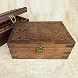 essential oil storage box - Celtic Design Wood Storage Box for 15ml Essential Oil Aromatherapy Bottles by Rivertree Life