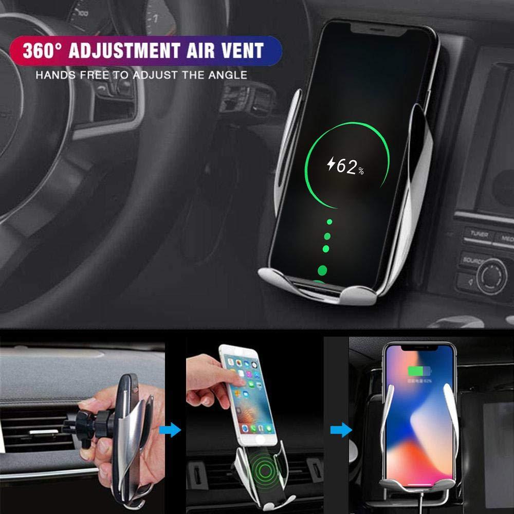 Qi 10W Staffa dello sfiato dellautomobile di Ricaricarsi Rapidamente per iPhone Samsung Huawei Chiusura Automatica OOOUSE Supporto per Caricabatteria da Auto Wireless