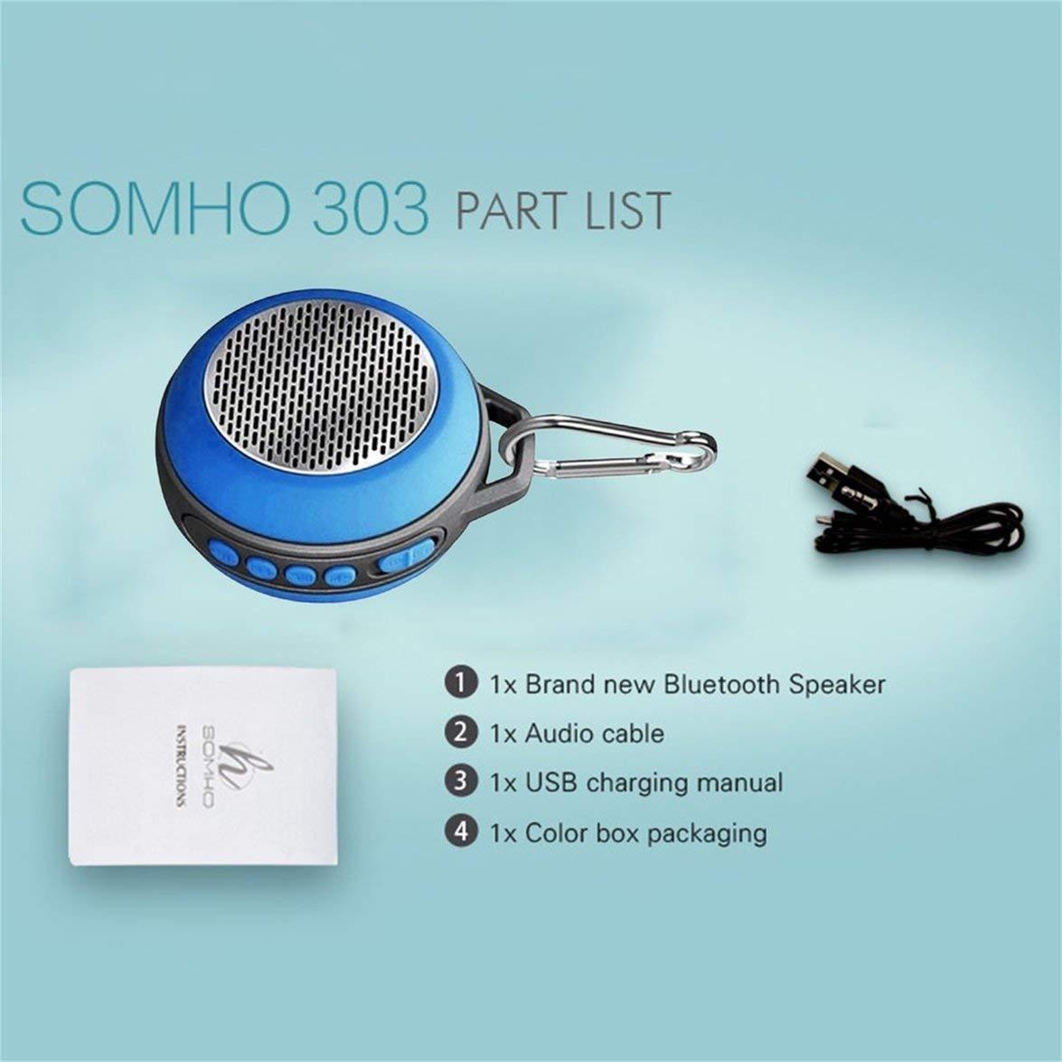 Kongqiabona SOMHO S303 Altavoz con Bluetooth Mini Altavoz portátil inalámbrico con música Bluetooth Altavoz Exterior con Manos Libres Altavoz con ...
