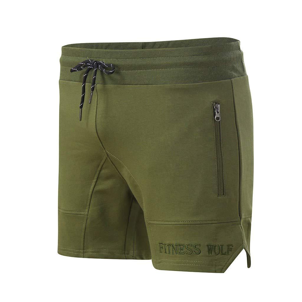 Negro, L2 MILL.GD88 Hombres Casual Deportes Jogging Fitness El/ástico Bordado Shorts Pantalones Pantalones
