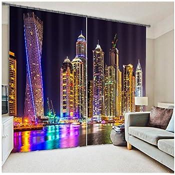 London HoleRoll Window Covering Source Amazon Com Creative Decorative Skyline Black And White New York