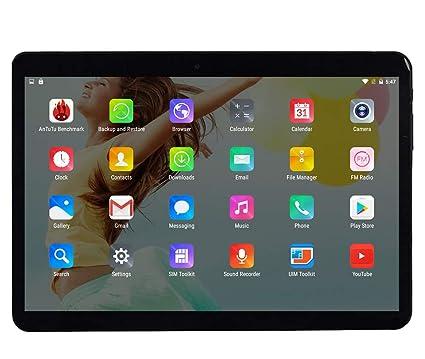 Tableta Android Octa Core CPU de 10 Pulgadas, 4 GB de RAM, 64 GB de Memoria Interna, WiFi, cámara, GPS, Dual SIM, sin Bloqueo de Red, teléfono para ...