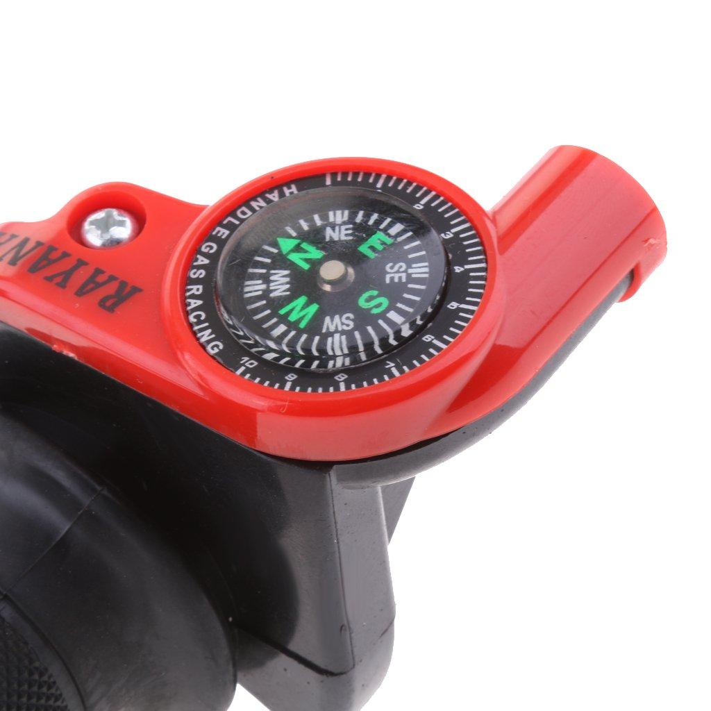Rose Rouge MagiDeal Moto Guidon Poign/ée dAcc/él/érateur 22mm Levier Gauche Droite Moteur Accessoire