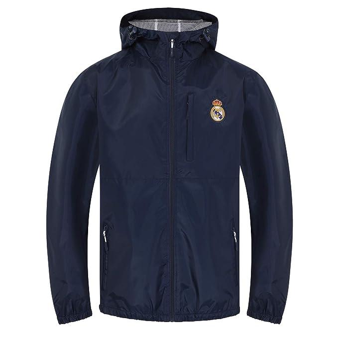Real Madrid - Chaqueta Cortavientos Oficial - para Hombre ...