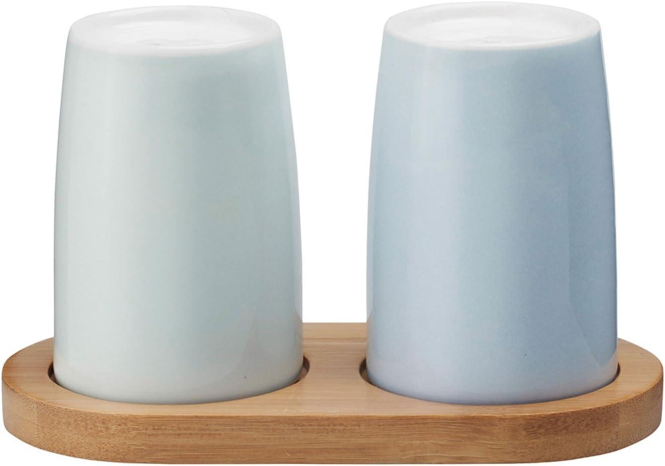 4/Emma Sali/ère et poivri/ère 13,5/x 7,5/x 9,5/cm gr/ès Largeur//Diam/ètre Stelton x 215 Bleu