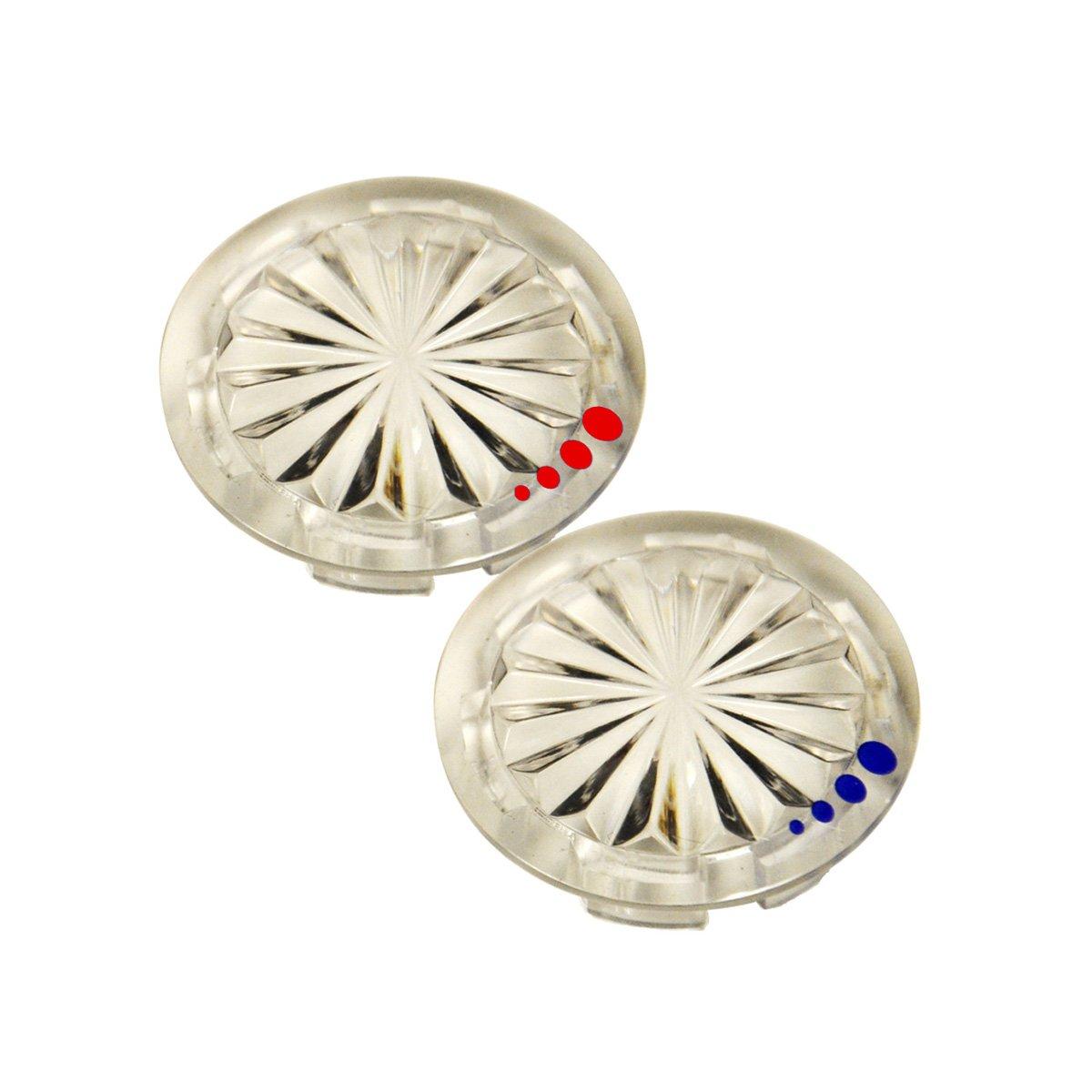 Danco 89958 Index Buttons for Glacier Bay Faucet Handles Clear