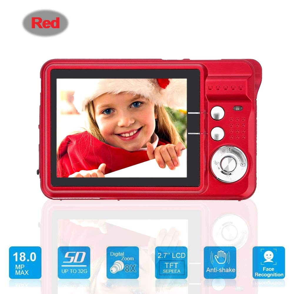 Amazon.com : Mini Digital Camera with 2.7 Inch TFT LCD Display, Digital Video Cameras Students Cameras (Red) : Camera & Photo