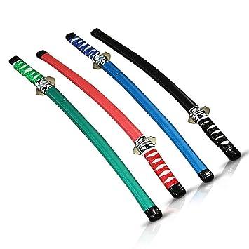 HC-Handel 911431 - 12 espadas Ninja grandes para niños, 60 cm, surtidas