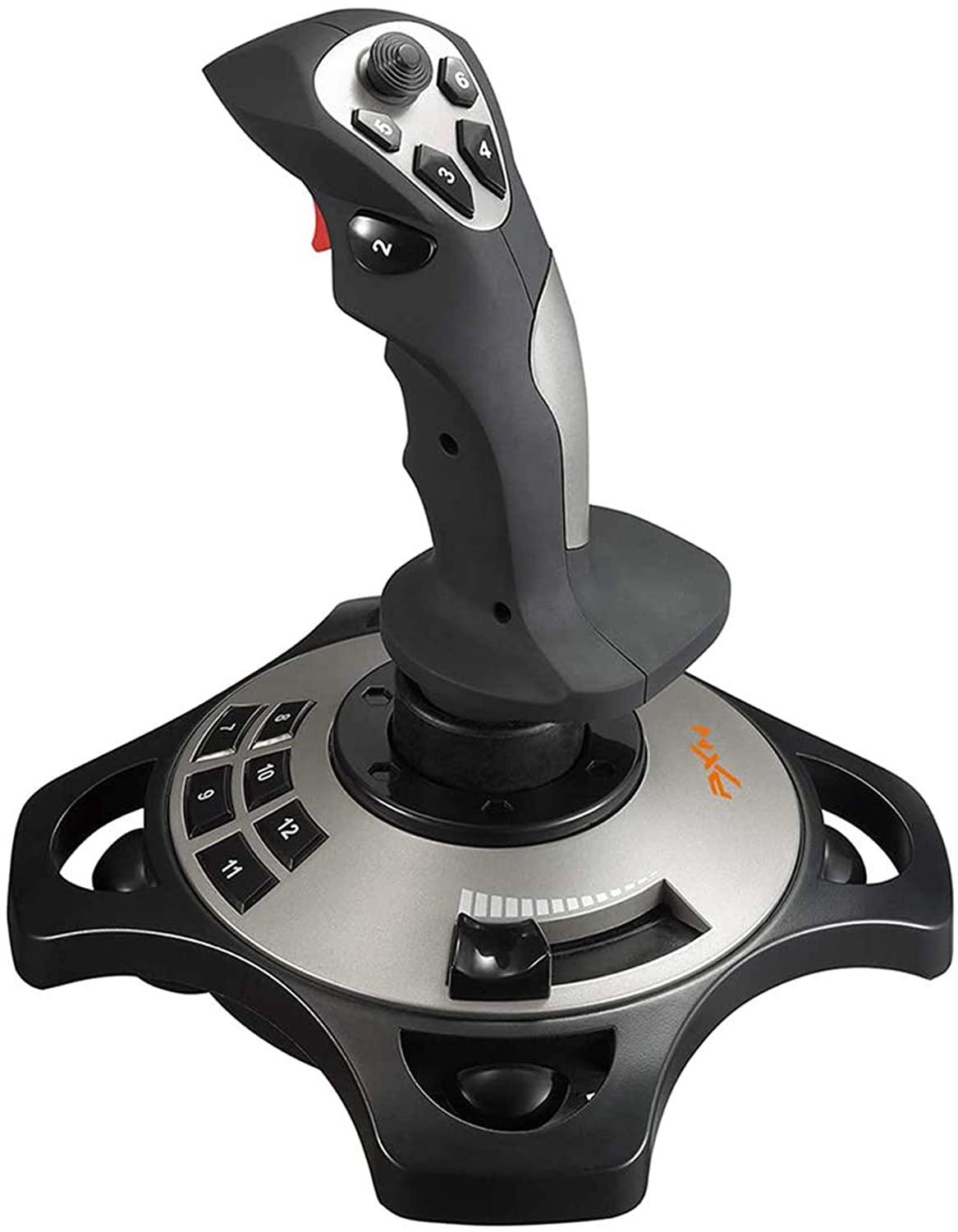 PXN-2113 USB Flight Stick PC Joystick Controller Simulator Gamepad Wired Gaming Control for Flight Stick Simulation Games, Advanced Throttle 4 Axis 8 Way HAT Switch, for Windows XP/VISTA/7/8: Computers & Accessories