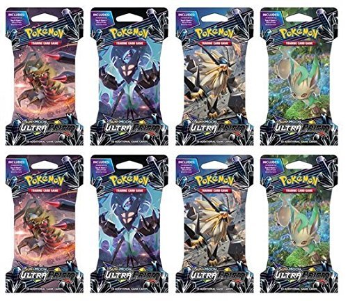 Pokemon TCG: 8 x Ultra Prism Sealed Blister Booster (Blister Booster Box)