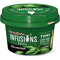 Chicken of the Sea Infusions Tuna, Basil, 2.8 Oz Cups, Pack of 6