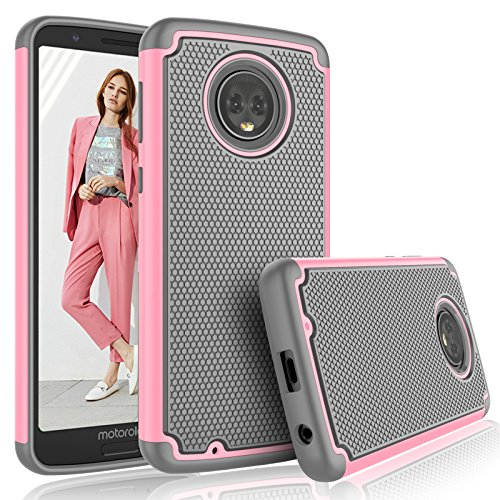 - Moto G6 Case, Motorola G6 Case For Girls, Tekcoo [Tmajor] Shock Absorbing [Baby Pink] Rubber Silicone & Plastic Scratch Resistant Bumper Grip Cute Hard Cases Cover For 2018 Moto G (6th Generation)