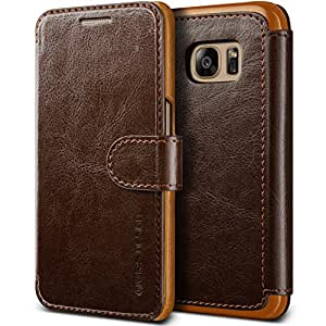 Galaxy S7 Case, VRS Design [Layered Dandy][Coffee Brown] - [Premium Leather Wallet][Slim Fit][Card Slot] For Samsung S7