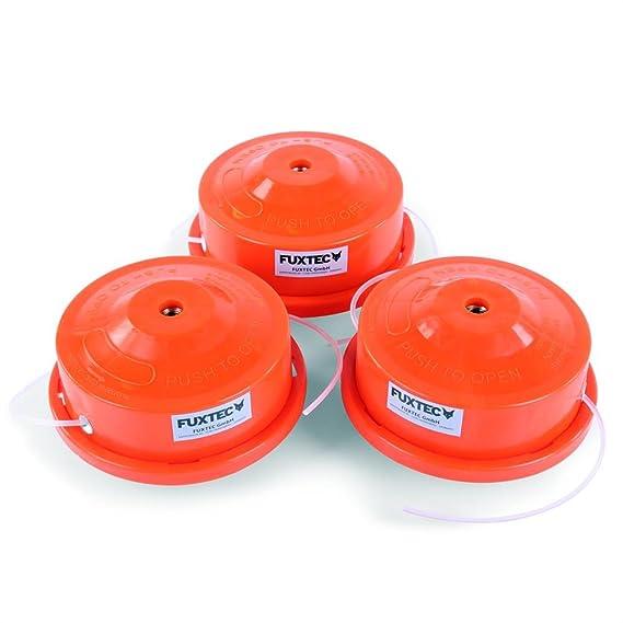 Fuxtec - Cabezal doble de desbrozadora (hilo nailon, 3 unidades ...