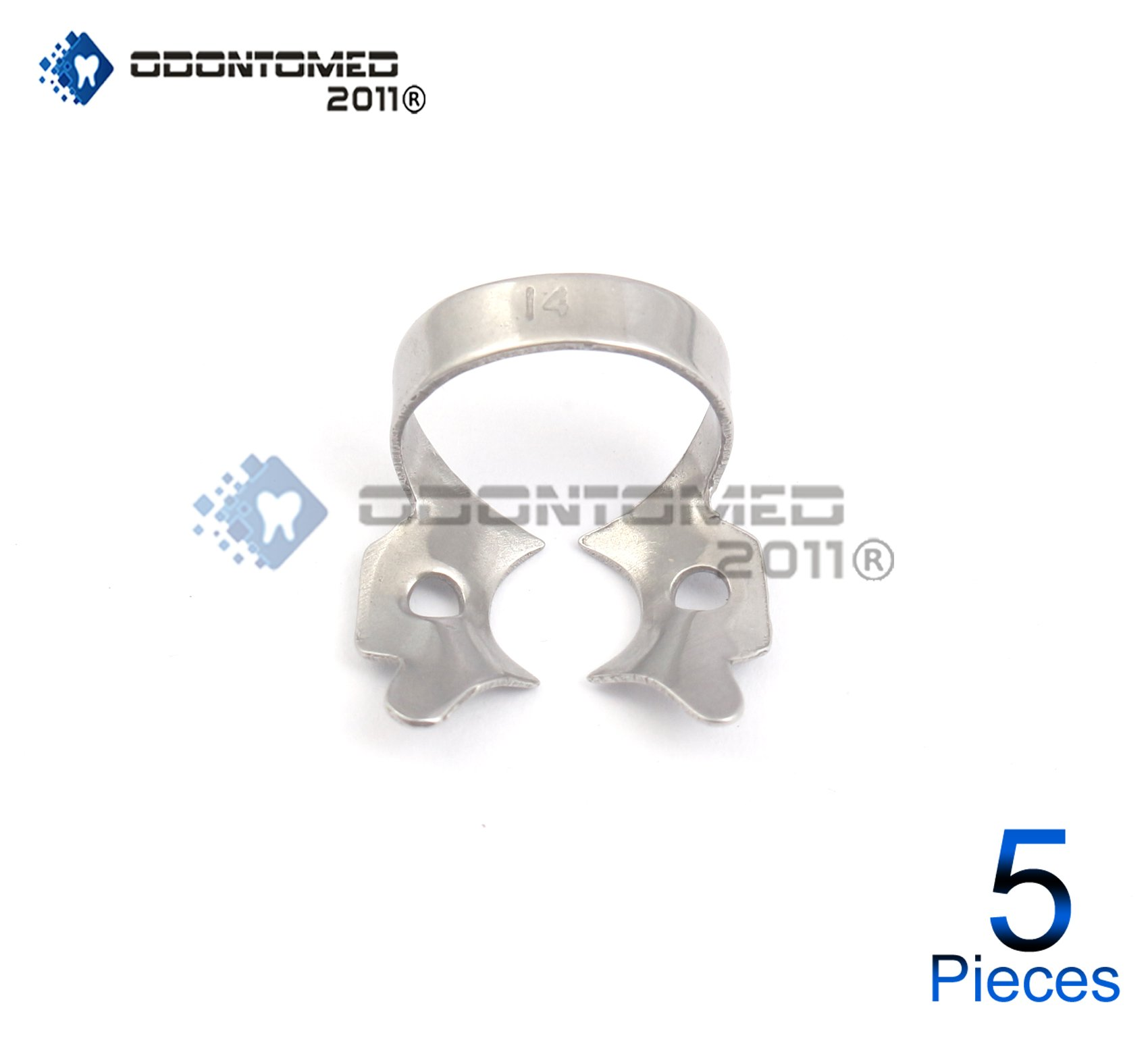 OdontoMed2011 5 PIECES ENDODONTIC RUBBER DAM CLAMP # 14 DENTAL INSTRUMENTS