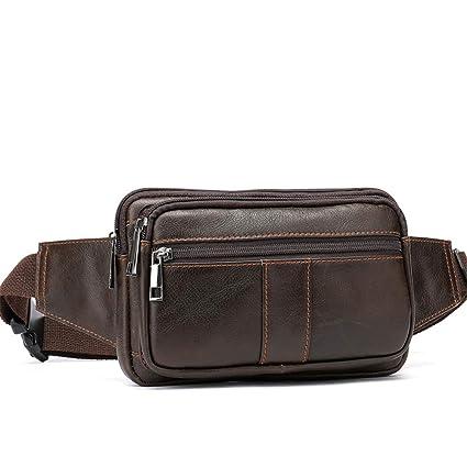 Genuine Leather Cell Phone Bag Waist Pack Travel Bag Fanny Pack Waist Bag