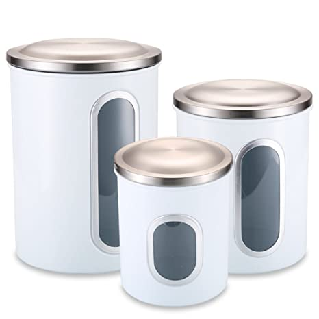 Superbe Kitchen Canisters, Food Storage Canisters Set With Anti Fingerprint Lid And  Visible Window,