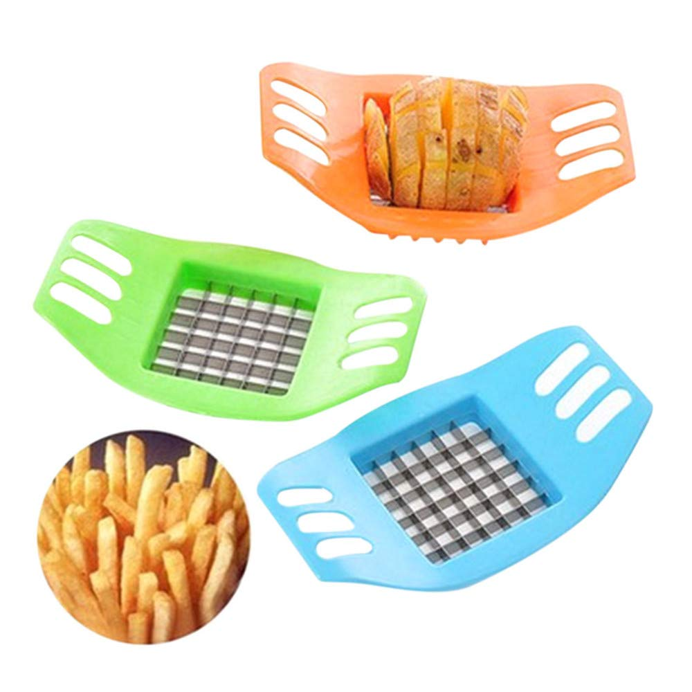 Potato Slicer Cutter,Vegetable Potato Slicer Chopper Chips Making Tool Potato Cutting Tool (Random)