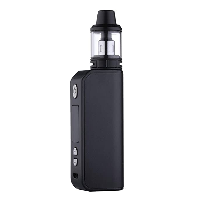 Cigarrillo Electrónico 80W Batería Recargable de 1800mAh E Cigarrillo Vape Kit, Libre de Nicotina y E Líquidos (Black): Amazon.es: Salud y cuidado personal